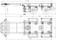 Полуприцеп-контейнеровоз двухосный Новтрак Meusburger, модель SW-18